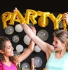 Party Gold Mylar Balloon