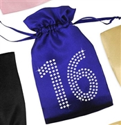 Crystal 16 Satin Favor Bag