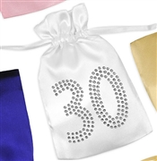 Crystal 30 Satin Favor Bag