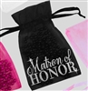 Matron of Honor Flirty Organza Favor Bag