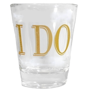 Modern I Do Shot Glass | Bridal Party Favors | RhinestoneSash.com