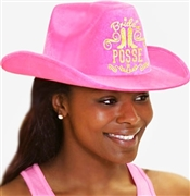 Bride's Posse Western Electric Pink Hat