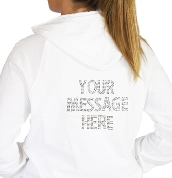 Put any message on a Hoodie