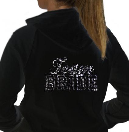 Rhinestone bride hoodie