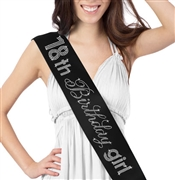18th Birthday Girl Rhinestone Sash