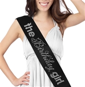 """Birthday Girl"" Rhinestone Sash"