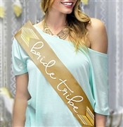 Bride Tribe with Chevron Sash | Bridal Sashes | RhinestoneSash.com