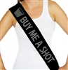 Buy Me A Shot Rhinestone Sash - Black