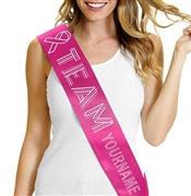 Custom Team Awareness Sash | RhinestoneSash.com