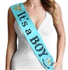 Flocked 'It's a Boy' Baby Shower Sash