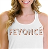 Feyoncé Rhinestone & Rose Gold Flowy Racerback Tank Top | Bridal Party Tops | RhinestoneSash.com