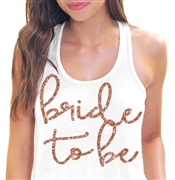 Bride to Be Rose Gold Flowy Racerback Tank