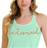 Bridesmaid Rose Gold Flowy Racerback Tank