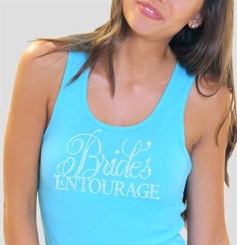 19962f1c85dd4 Turquoise Bride s Entourage Flirty Rhinestone Tank Top