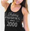 Perfecting Perfection Since 2000 Flowy Racerback Tank Top