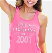 Perfecting Perfection Since 2001 Flowy Racerback Tank Top