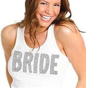 Super Bling Rhinestone Bride Tank Top