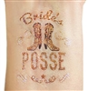 Bride's Posse Glitter Temporary Tattoo
