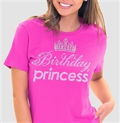 Birthday Princess with Crown T-Shirt