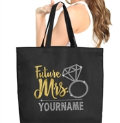 Future Mrs. Custom Large Canvas Tote