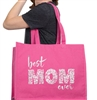 Best Mom Ever Large Canvas Tote