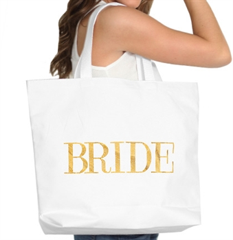 Bride Gold Large Canvas Tote