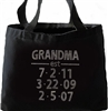 Grandma & Grandchild Birthdate Custom Large Tote | Grandma Established personalized totle
