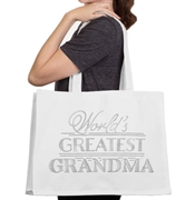 World's Greatest Grandma Large Canvas Tote