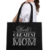 World's Greatest Mom Large Canvas Tote | Mother's Day Gift Ideas