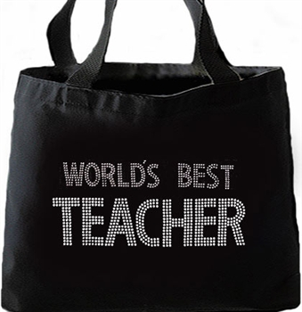"""World's Best Teacher""  Large Tote"