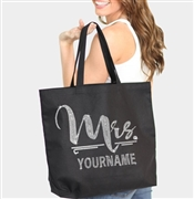 Foxy Mrs & Last Name Custom Large Tote