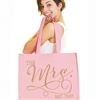Gold The Mrs. Large Rhinestone Tote - Bride Tote Bag
