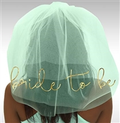 Bride to Be Gold Foil Veil: Mint