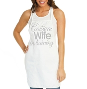 Caution: Wife In Training Canvas Apron