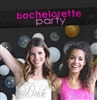Bachelorette Party Black Satin Banner| Bridal Decorations | RhinestoneSash.com