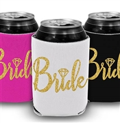 Bride w/Diamond Gold Glitter Can Cover