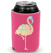 Iridescent Flamingo Can Cooler