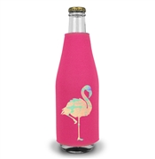 Iridescent Flamingo Bottle Cooler