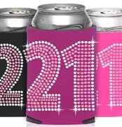 Pink & Crystal 21 Can Cooler