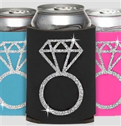 Silver Glitter Ring Can Cooler