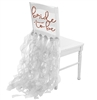 Rose Gold Glitter Bride To Be Chair Cover