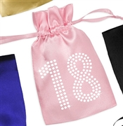 Crystal 18 Satin Favor Bag