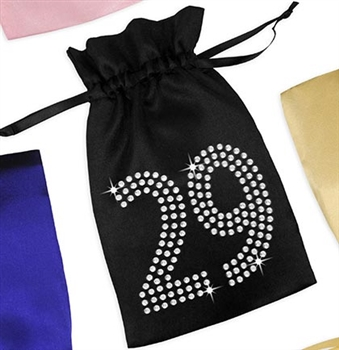 Crystal 29 Satin Favor Bag