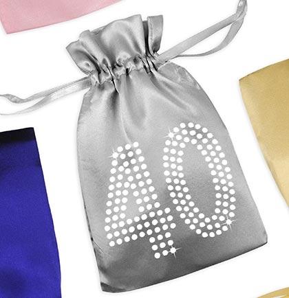 Crystal 40 Satin Favor Bag Larger Photo