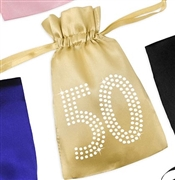 Crystal 50 Satin Favor Bag