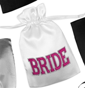 Sporty Bride Satin Favor Bag