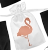 Flamingo Satin Favor Bag