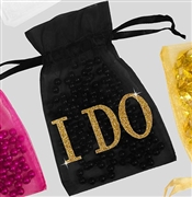 I Do Modern Organza Favor Bag