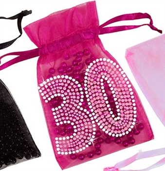 Pink Gem 30 Organza Favor Bag