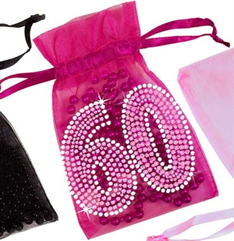 Pink Gem 60 Organza Favor Bag